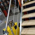 Montée d'escalier inox